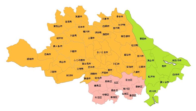 対象エリア地図